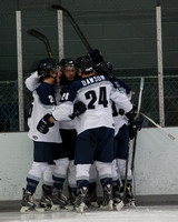 Knights celebrate goal in opening seconds